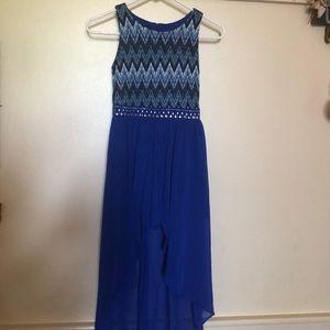 Amy Byer Royal Blue party dress romper size 8